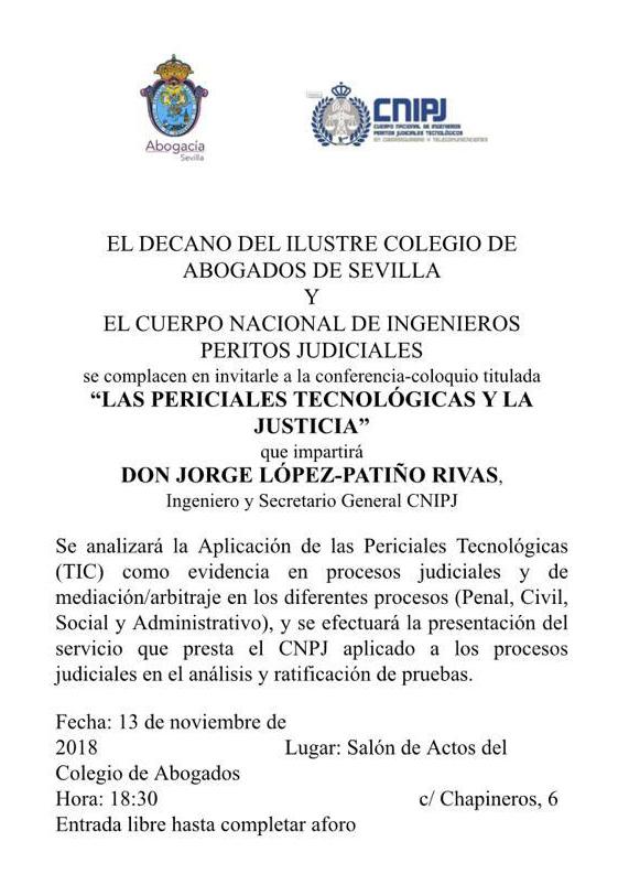 Conferencia del CNIPJ ante el Ilustre Colegio de Abogados de Sevilla