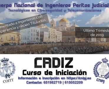 CURSO DE INICIACIÓN DEL CNIPJ 2019 EN CÁDIZ, PRÓXIMAMENTE