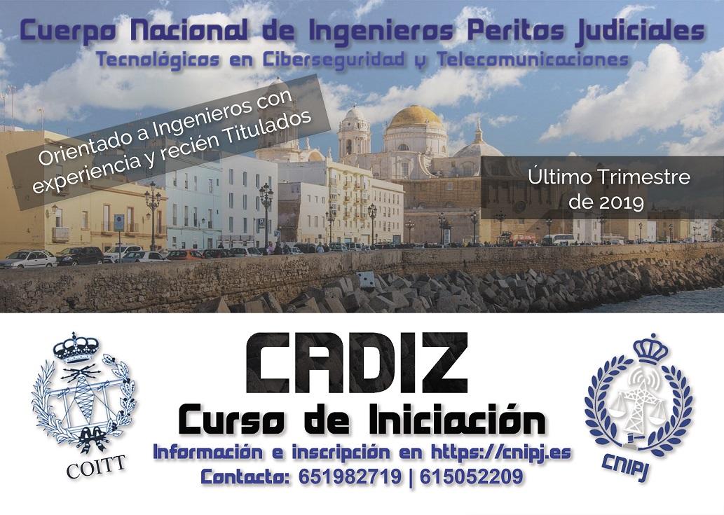 CURSO DE INICIACIÓN DEL CNIPJ 2019 EN CÁDIZ