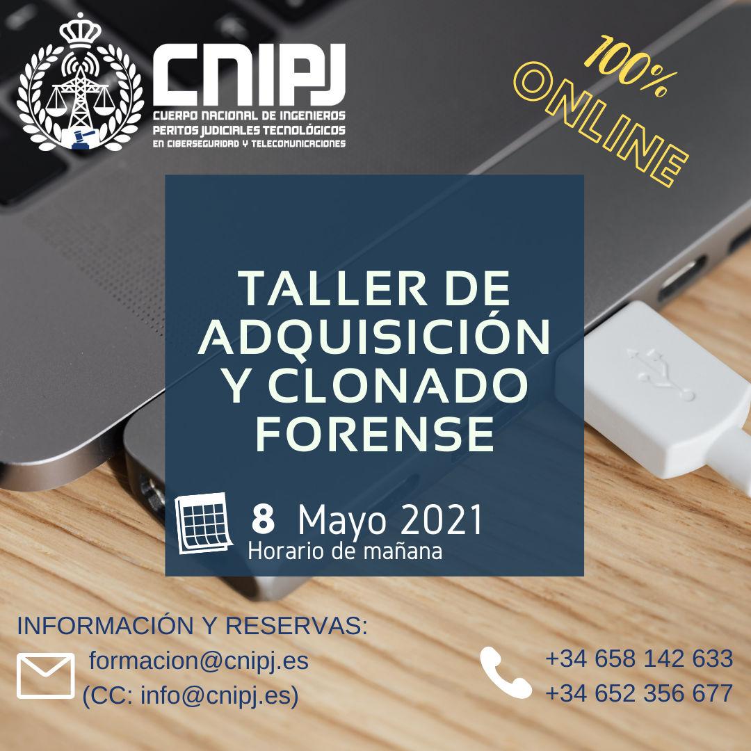 Taller de adquisición y clonado forense